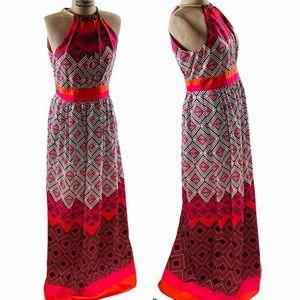 ELIZA J FLOOR LENGTH MAXI DRESS